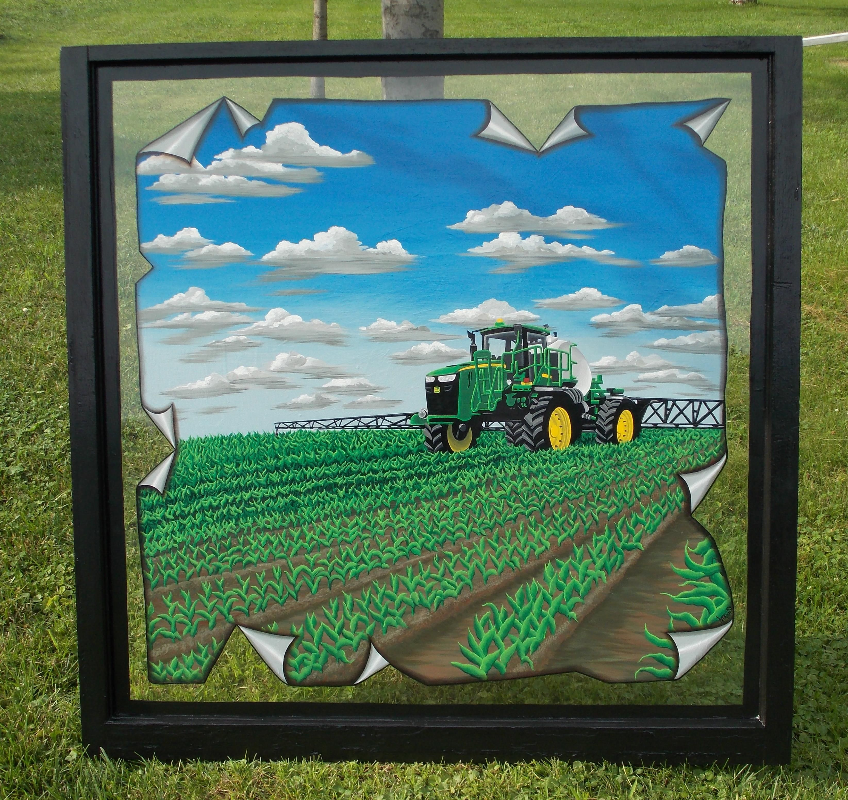 A big painted windowhn deere sprayer in a corn field john deere sprayer in a corn field jeuxipadfo Images