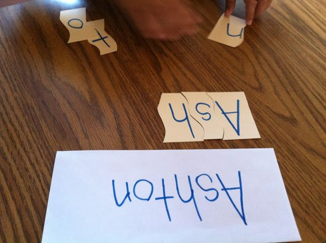 Name puzzles to help with spelling -- Extra Special Teaching: Special Education