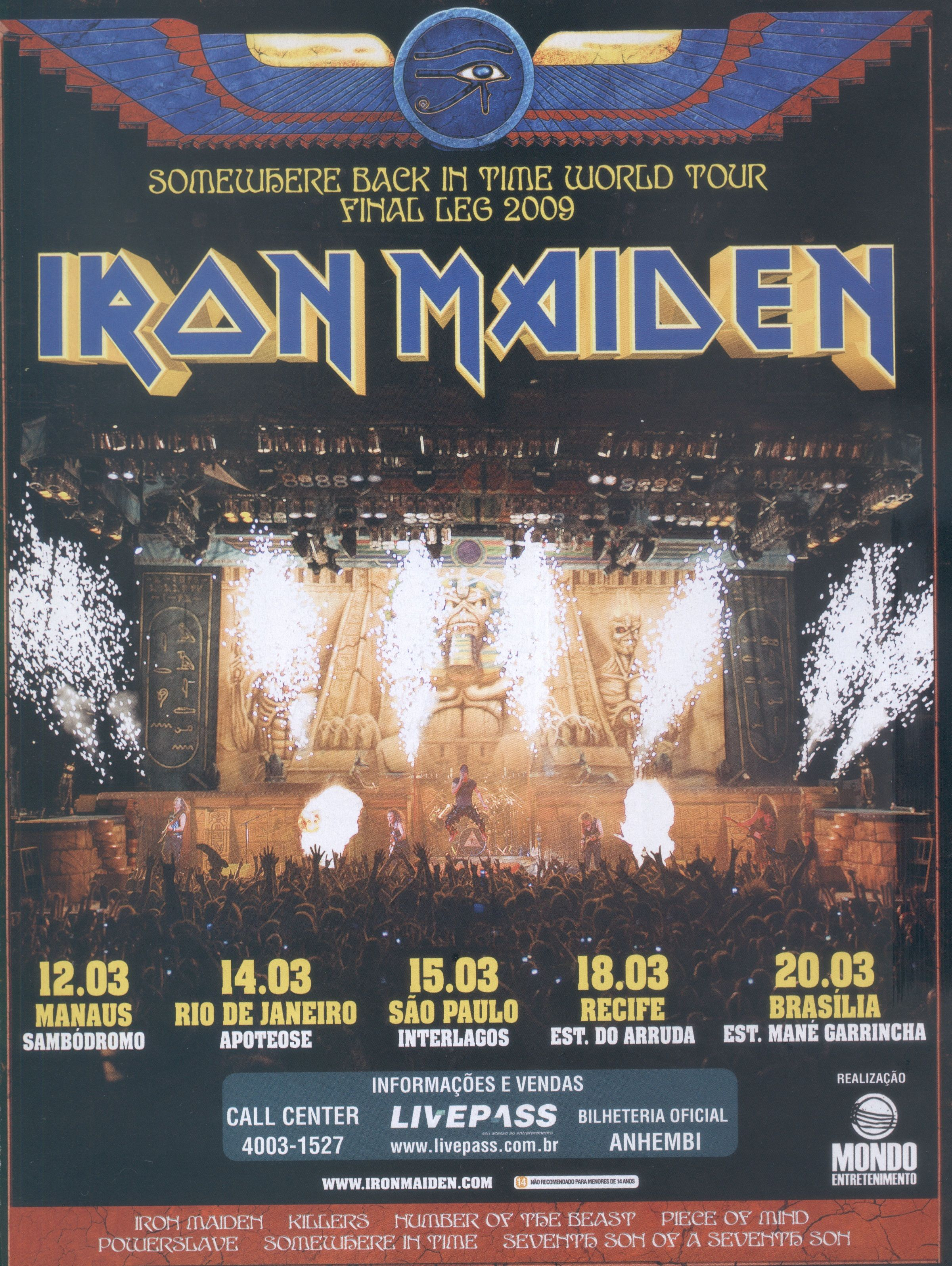 Pin by Bob Shekerko on Concert Posters! | Iron maiden band