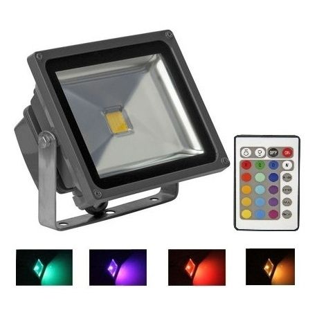 Led Flood Projector 20w Rgb 12v 24v With Images Flood Light Fixtures Flood Lights Led Flood