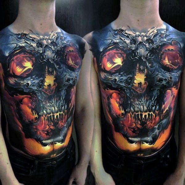 Full Chest Tattoos Skull: Body Art, Tattoo Life I Tatuaże