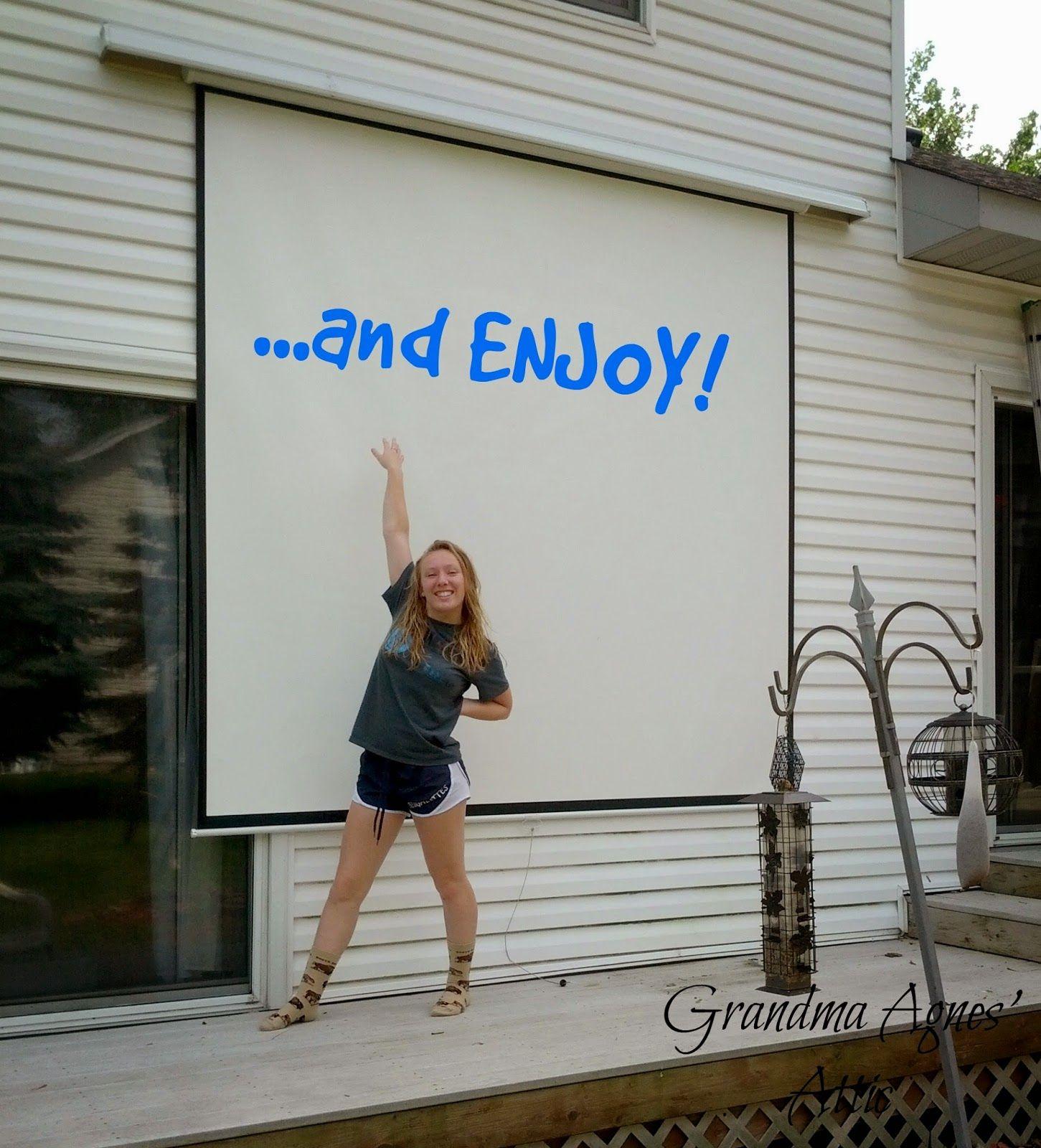 Grandma Agnes\' Attic: Outdoor Movie Screen {in your Own Backyard ...