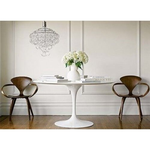 Replica Saarinen Tulip Table White Fiberglass Dining Table