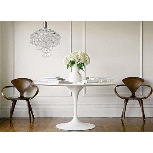 Tulip Table Base Saarinen Style Tulip End Table In White Wood