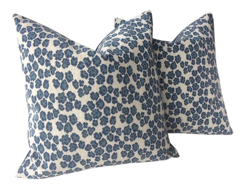 Cowtan And Tout Panther Pillows In Nile Blue A Pair Pillows Woven Pillows Beautiful Pillows