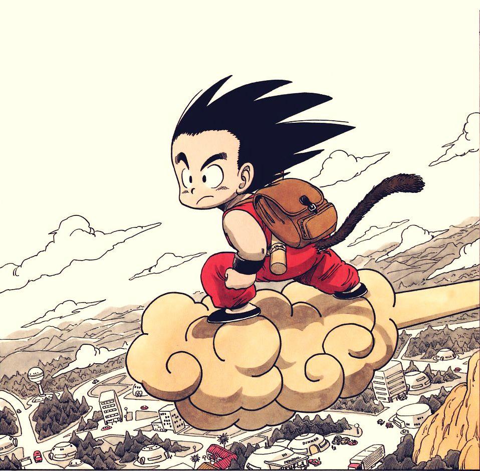 An Original Illustration From Akira Toriyama S Dragonball I Love The Colors Anime Dragon Ball Kid Goku