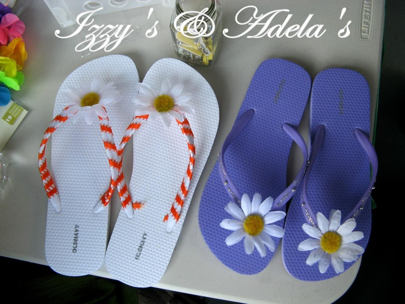 flip from flops decorating wooden pin gun made letters and flop decor ideas hot lobby hobby glue a