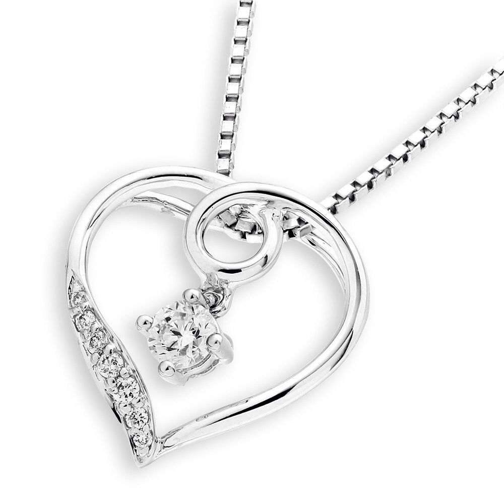 The way you fell in love.    18K White gold pendant with diamonds.    #FinestDiamonds    www.finestdiamonds.com.au