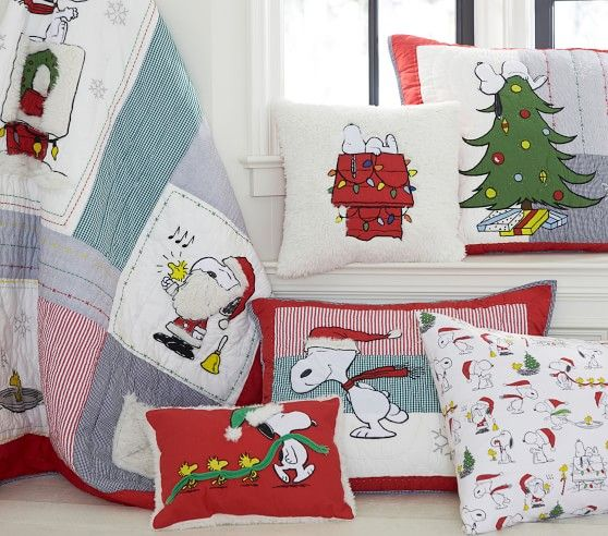 Organic Flannel Holiday Peanuts 174 Duvet Cover Christmas