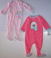 CARTER S Toddler Girl BLANKET SLEEPER PAJAMA 1-PC. Fleece Footed Pick yours  NWT 4bb8f9864