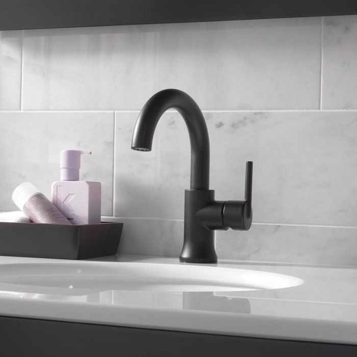 Trinsic Single Hole Bathroom Faucet With Drain Assembly