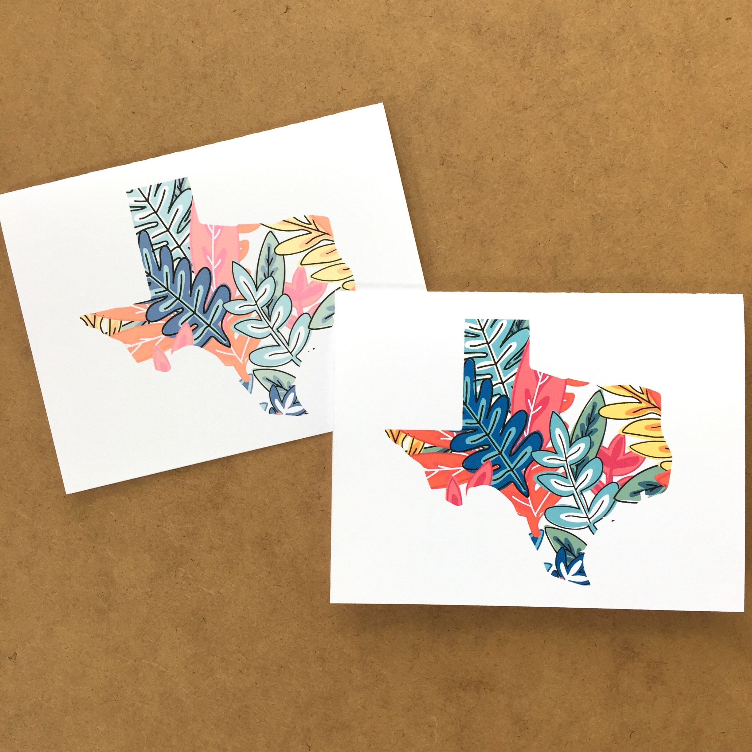 Texas note card with botanical print texas map texas state gift texas note card with botanical print texas map texas state gift greetings from texas texas greeting card texas gift ideas texas made m4hsunfo