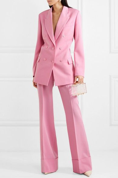 Pink Women Pant Suits for Women Plus Size Ladies Single Breasted Blazer with Pants Women's Work Pantsuit Custom Made