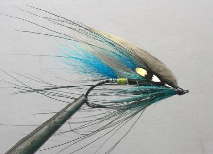 3 x hot head Ally McCoist Trout Fly size 12 blue flash Salmoflies
