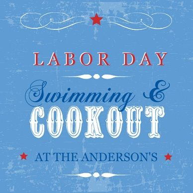 lots of really cute Labor Day party invitation designs to choose - free invitation designs