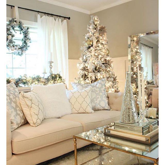 elegant christmas living room decor southwestern elpetersondesign love the mouldings grown up coffee table