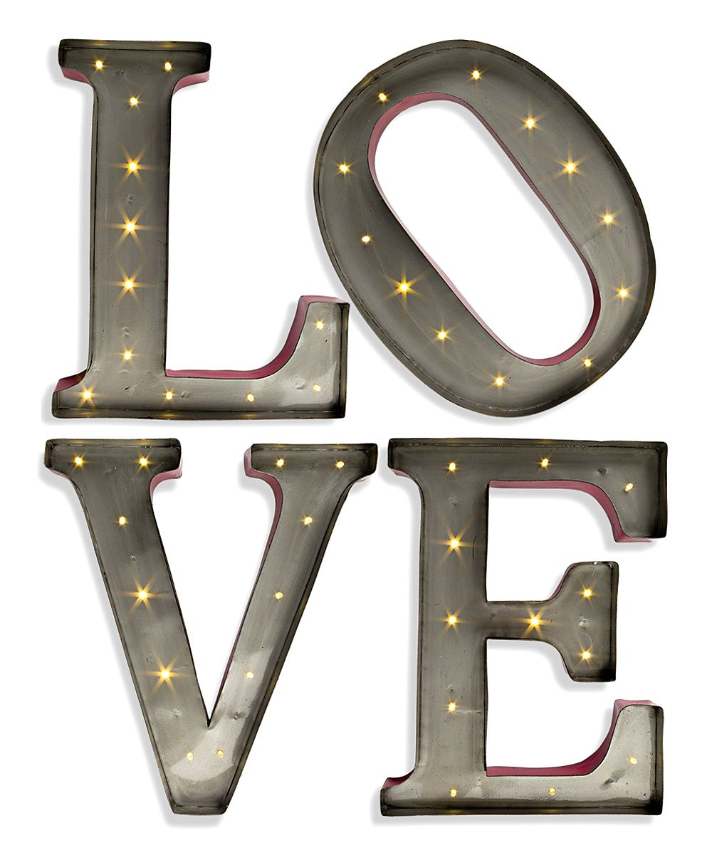 Lighted ''Love'' Letters Décor