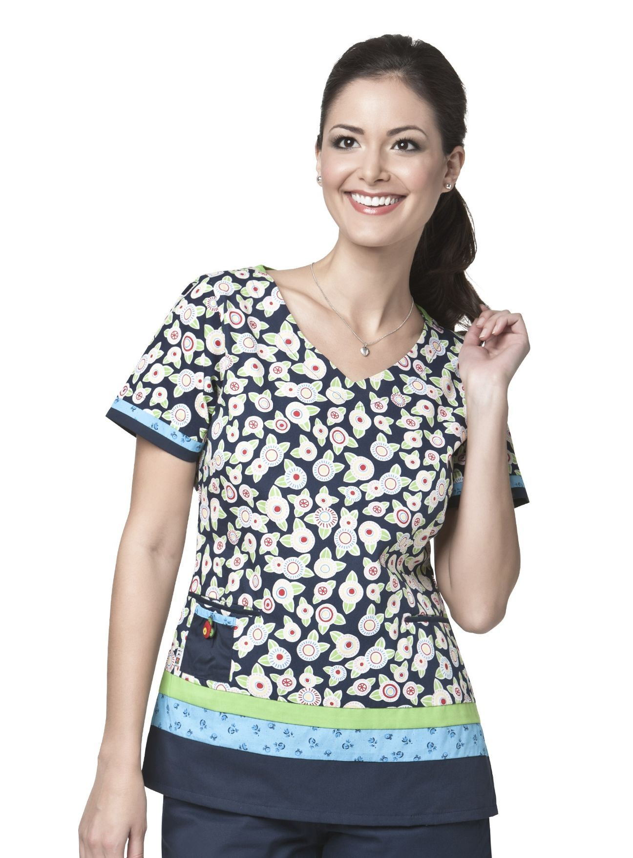 42ea9ad7f60 Anything Is Possible V-Neck Scrub Top by Mary Engelbreit. $15.99 #nursing # uniforms