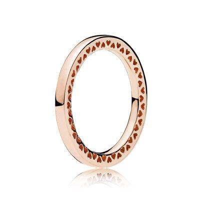pandora anello cuore rosa