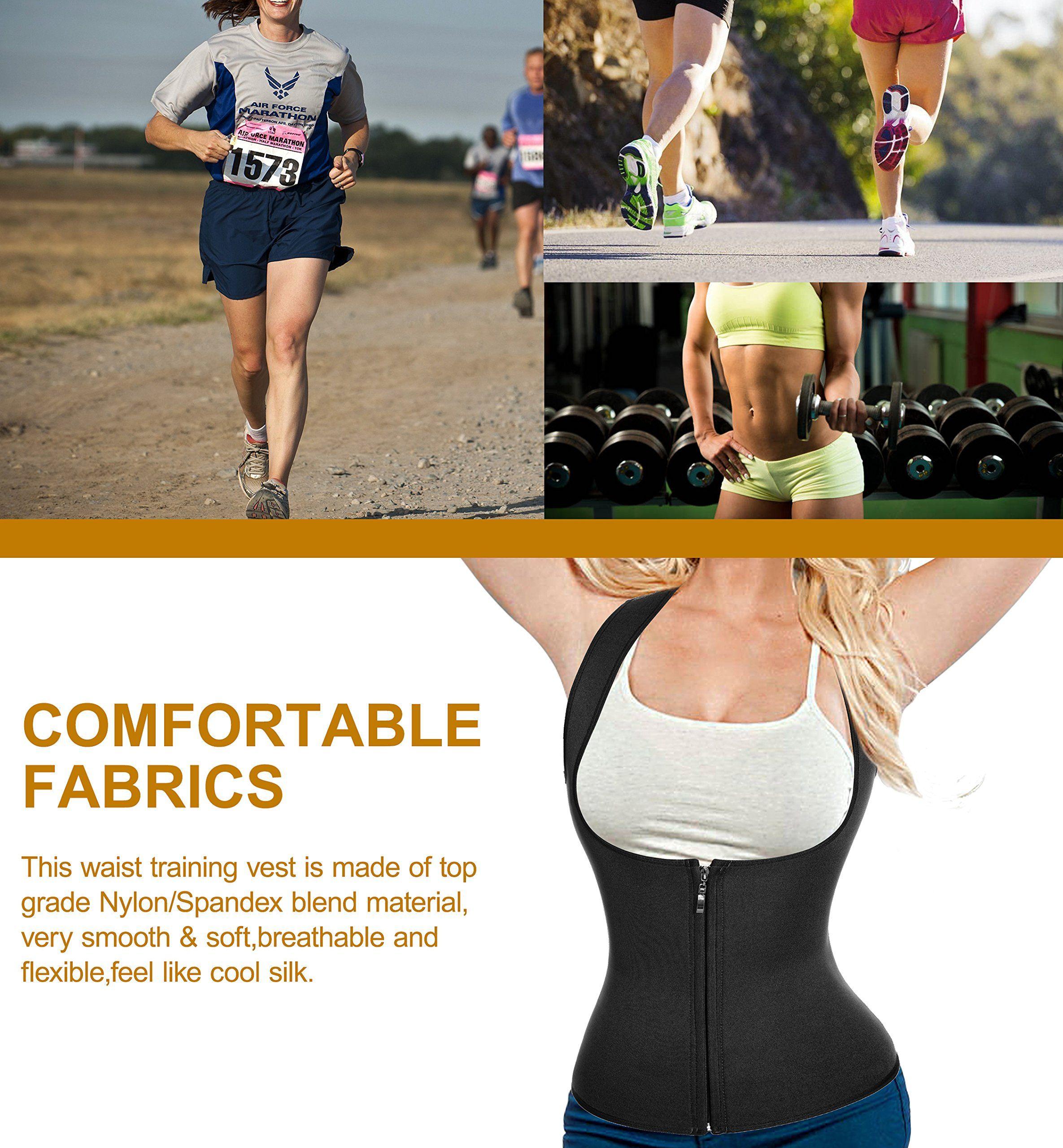 ed6b9c70b21 CtriLady Women Hot Sweat Neoprene Weight Loss Tank Top Shirt Waist Trainer  Vest Zipper Corset Body