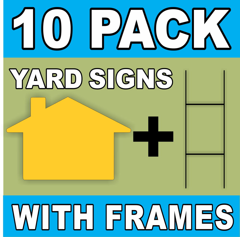Great For Do It Your Self Sign Making 10 Large House Shaped Blank Yard Signs And 6x24 H Stakes Cut From 16 X 24 4 Mil White Corrugated Plastic
