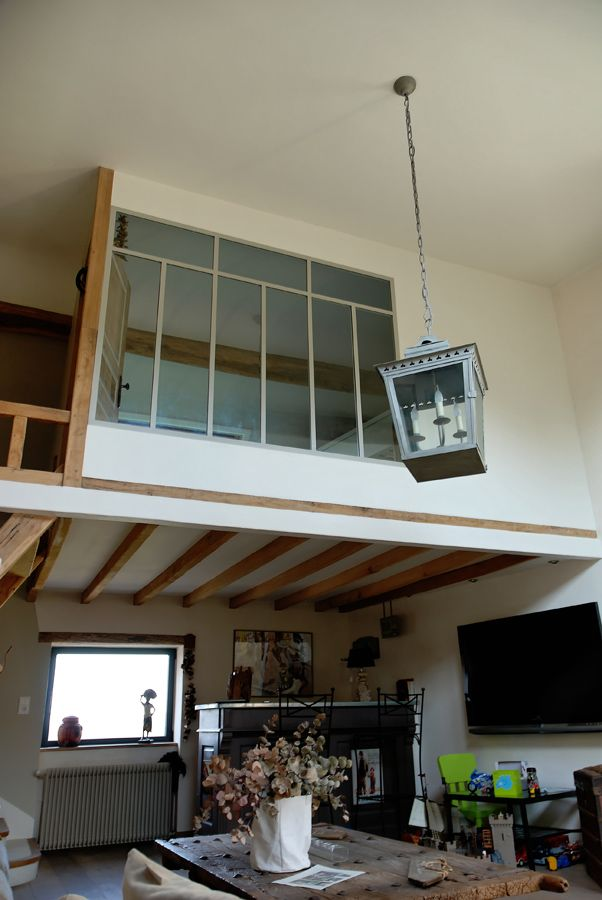 Verriere atelier artiste archi cloison vitr e pinterest atelier - Fermeture mezzanine verre ...