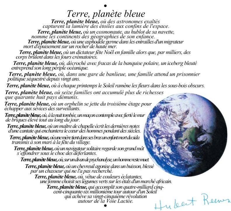 Terre, planète bleue