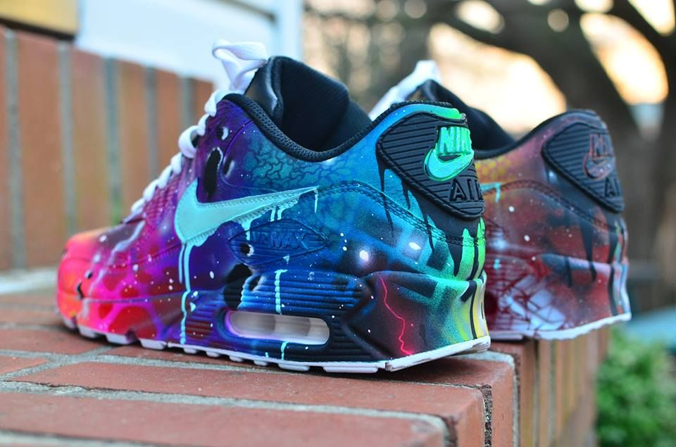 Nike Air Max 90 Candy Drip Black Red Mens Trainers Sale UK