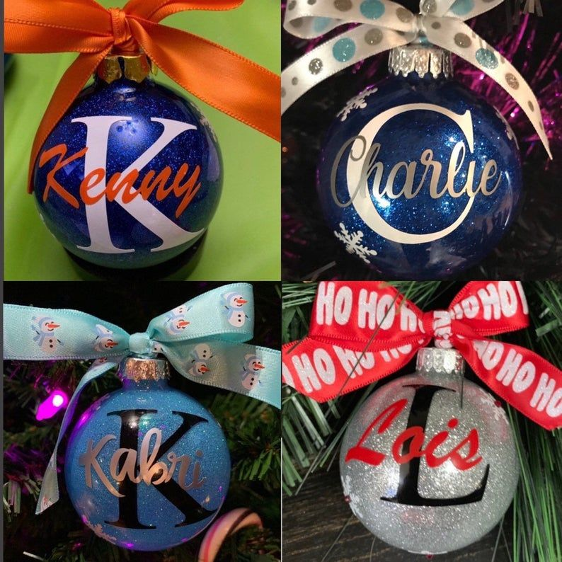 Personalized Ornament Glass Ornament Christmas Ornament