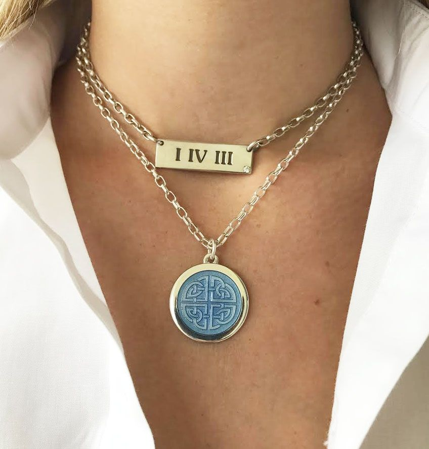 I Iv Iii Bar Necklace Mother Daughter Celtic Knot Pendant Celtic Knot Pendant Mother Daughter Celtic Knot Timeless Jewelry