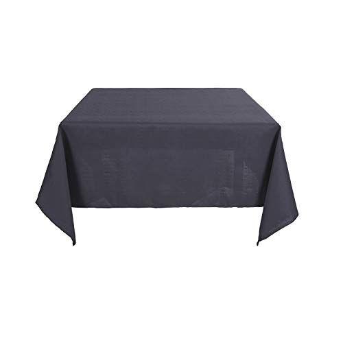 Deconovo Nappe De Table Carree Effet Lin Impermeable 130x130cm Gris Fonce Avec Images Nappe De Table Nappe Table Carree