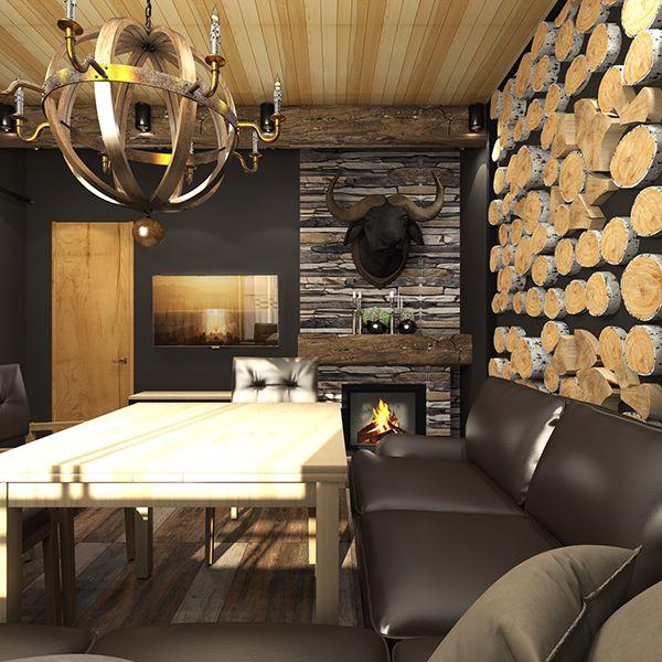 Двухэтажная баня. Интерьер и экстерьер on Behance | Sauna ...