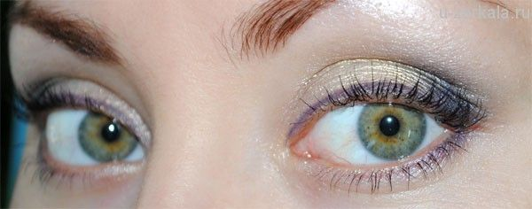 Макияж дня: Золотисто-фиолетовый