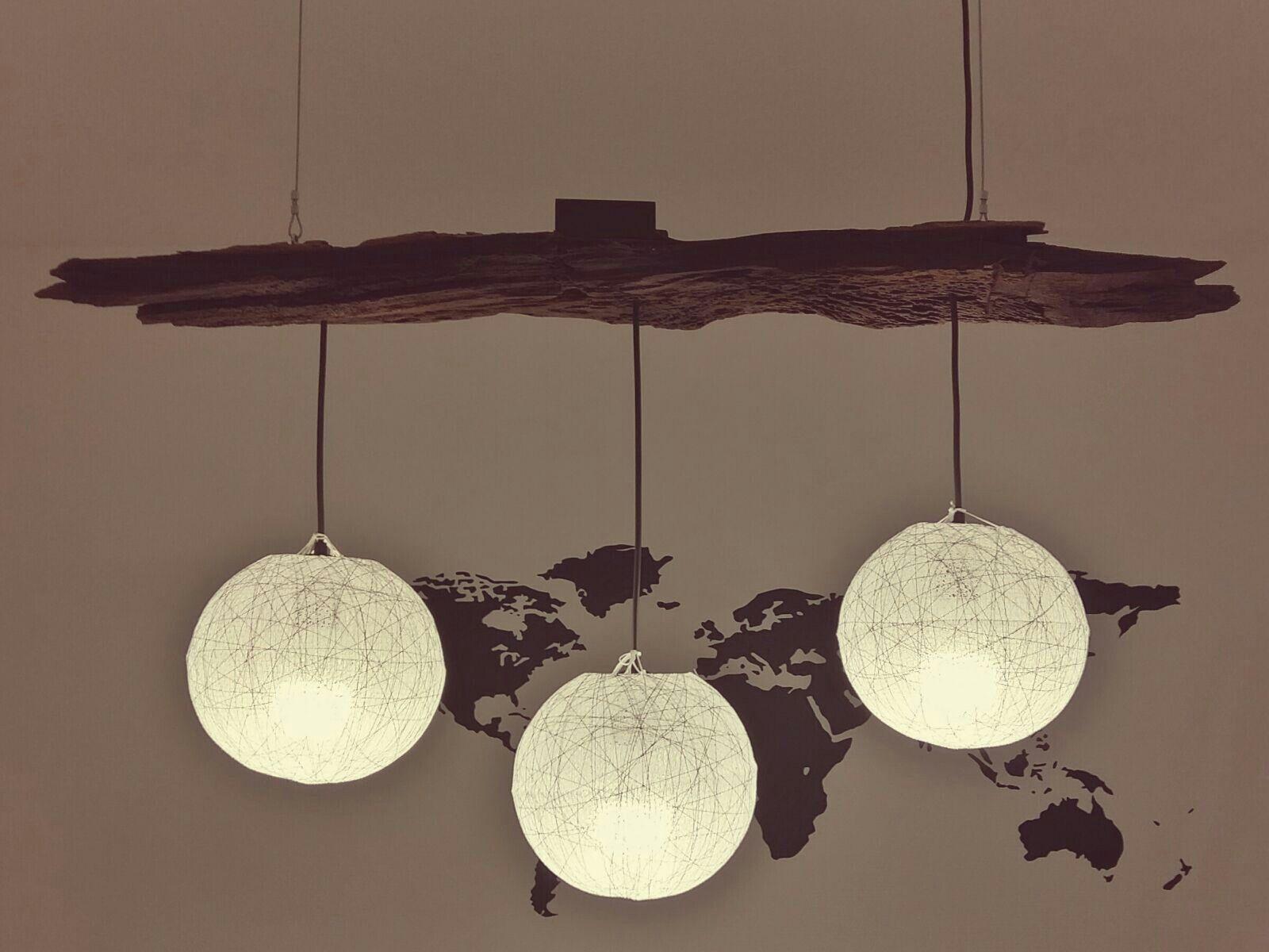 Beautiful DIY Lampe Kameldornholz aus Namibia Schirme aus Laos Dimmer aus Deutschland