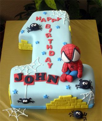 Baby Spidey No1 Cake Cakes And Cupcakes For Kids Birthday Party