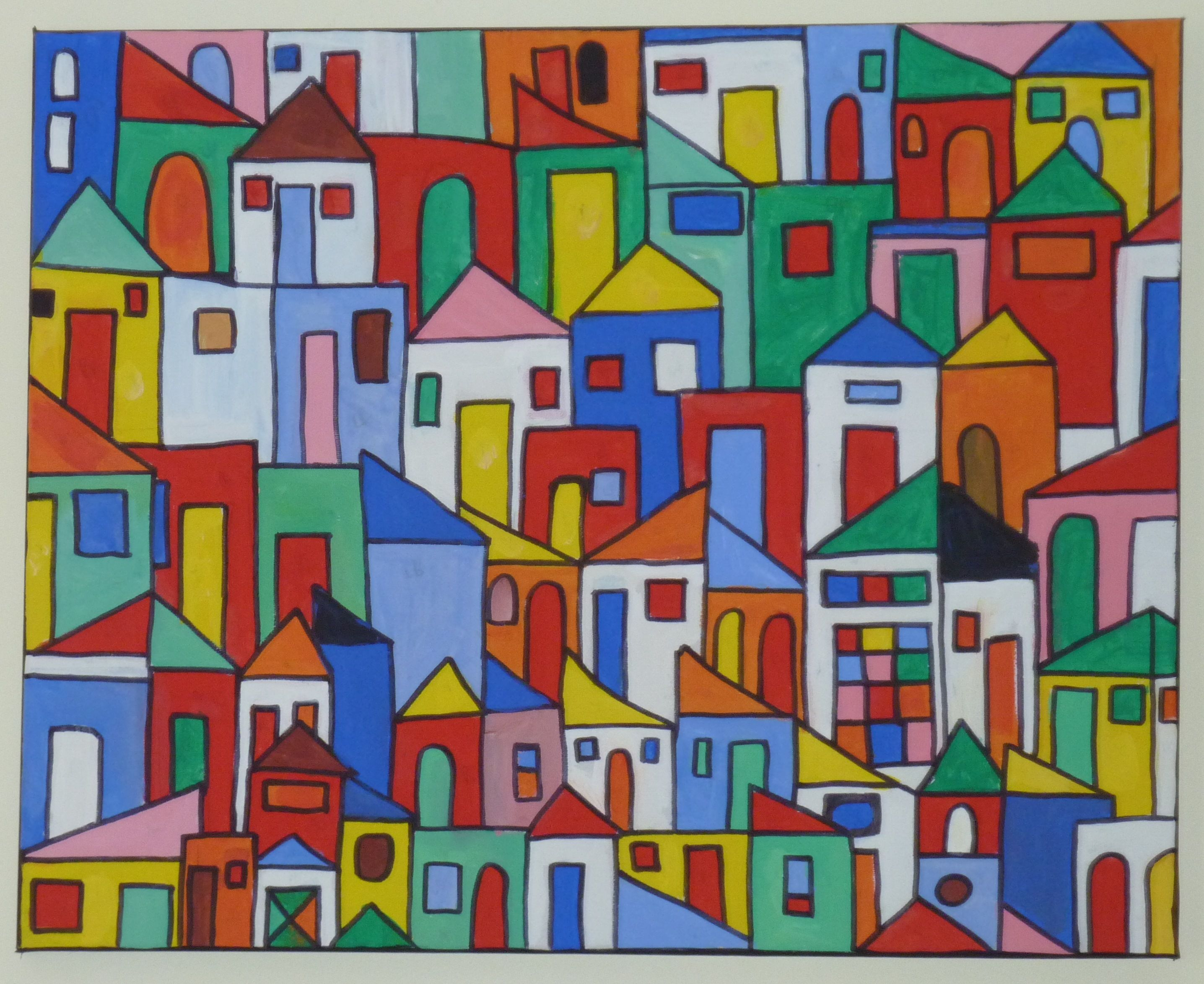 Rio favelas painting - Rhiannon Crafts | Street Art | Pinterest
