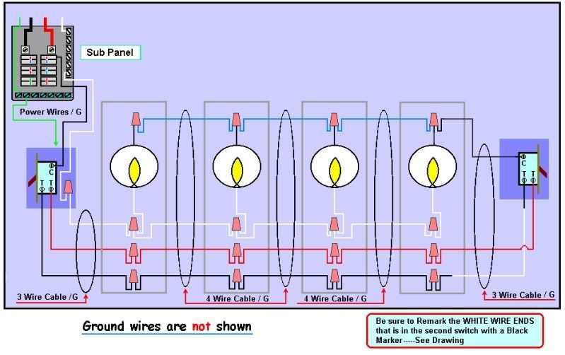 Wiring Diagram For 3 Way Switch With 4 Lights Bookingritzcarlton Info Three Way Switch 3 Way Switch Wiring Light Switch Wiring