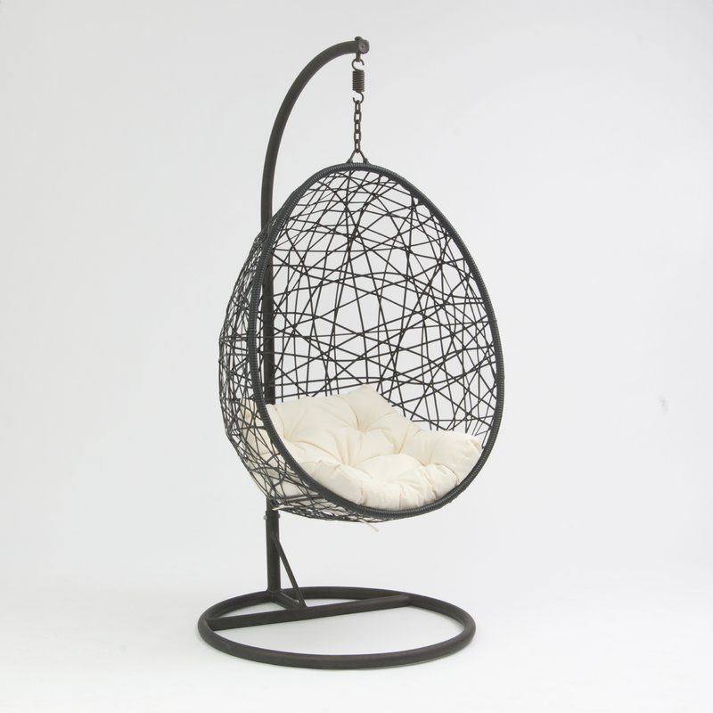 Colman rattan egg swing chair with stand chair rattan