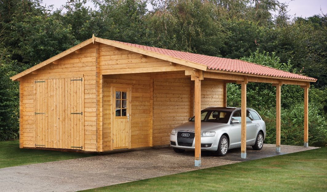 Luxurious Wooden Carport And Garage Ideas And Variations Wooden
