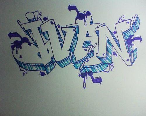 Juan En Letra Graffiti Buscar Con Google Graffitis Nombres