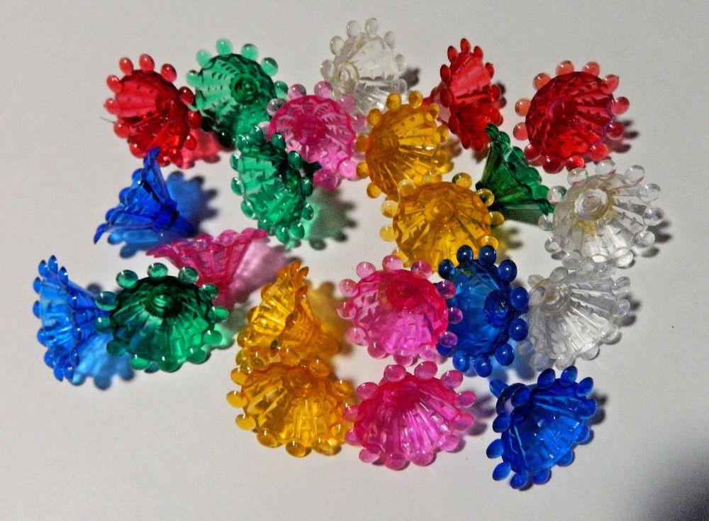 22 Vintage Plastic 1 1 4 Dia Flower Mini Christmas Light Bulb Reflective Covers Christmas Lights Christmas Light Bulbs Christmas Decorations