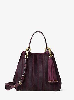 View All Luxury   Fashion Handbags. Brooklyn Medium Appliqué Suede Grab Bag  by Michael Kors 6a5b5740fc