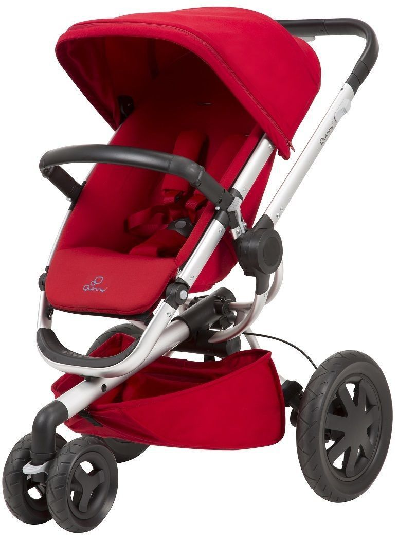Quinny Buzz Xtra 2.0 Baby Stroller Auto Unfold Reversible Seat Red