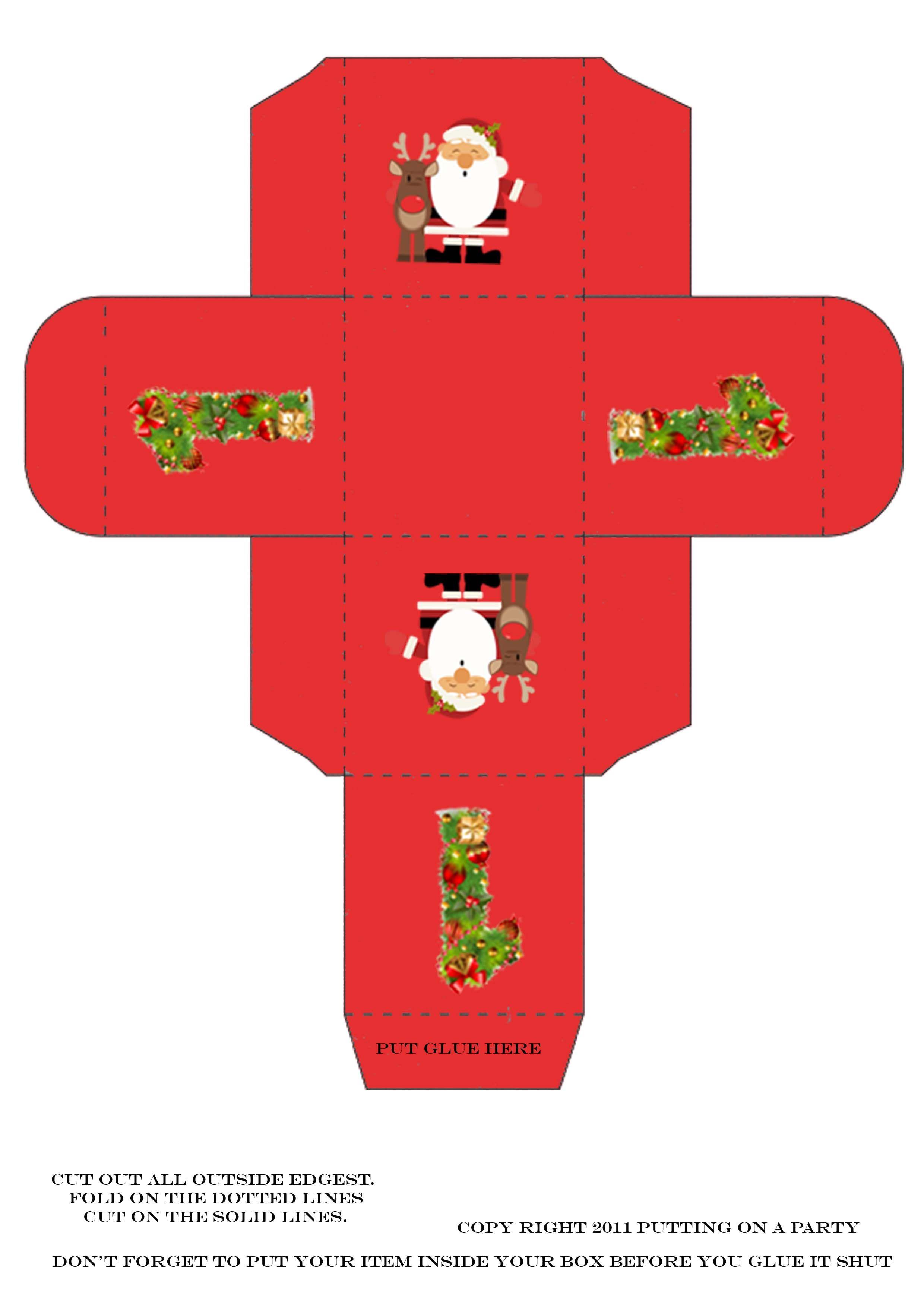 christmas box template | printables | pinterest | box templates