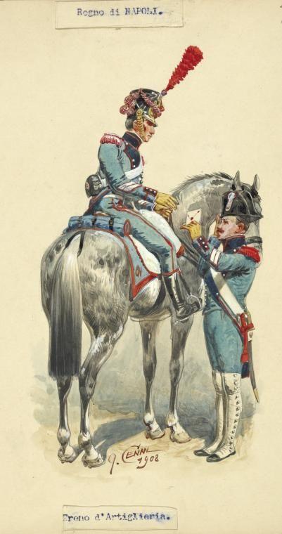 Regno di Napoli - Ufficiale e soldato di Artiglieria