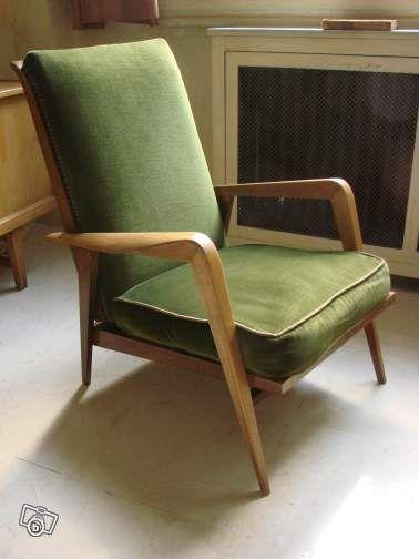 Fauteuil Steiner Design Etienne Henri Martin 1950