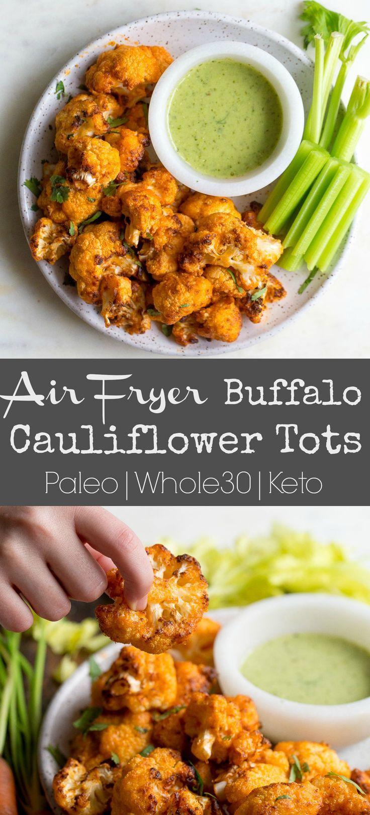 Air Fryer Buffalo Cauliflower Tots images