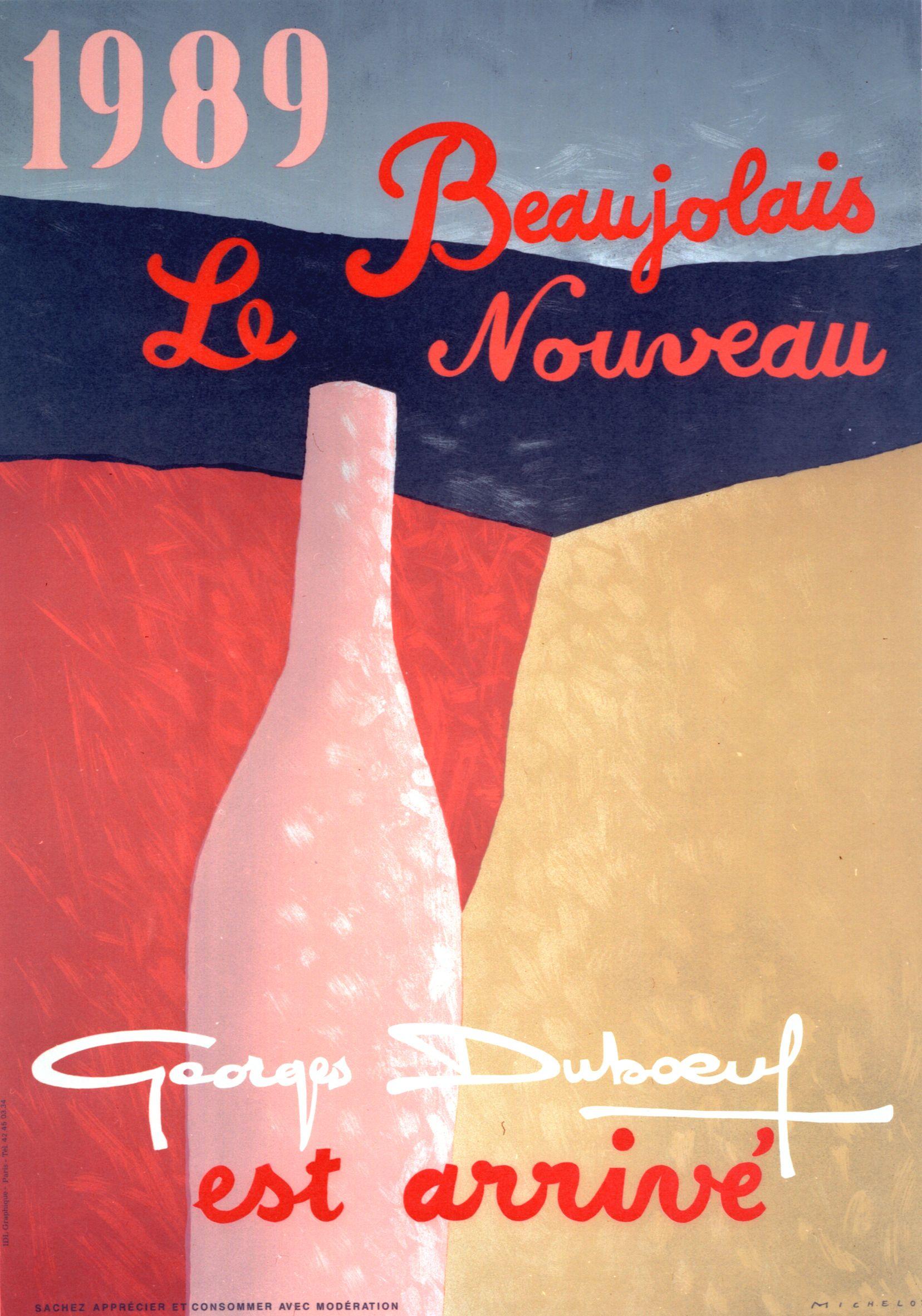 Beaujolais Nouveau 1989 Fete De La Biere Le Beaujolais Affiches Publicitaires