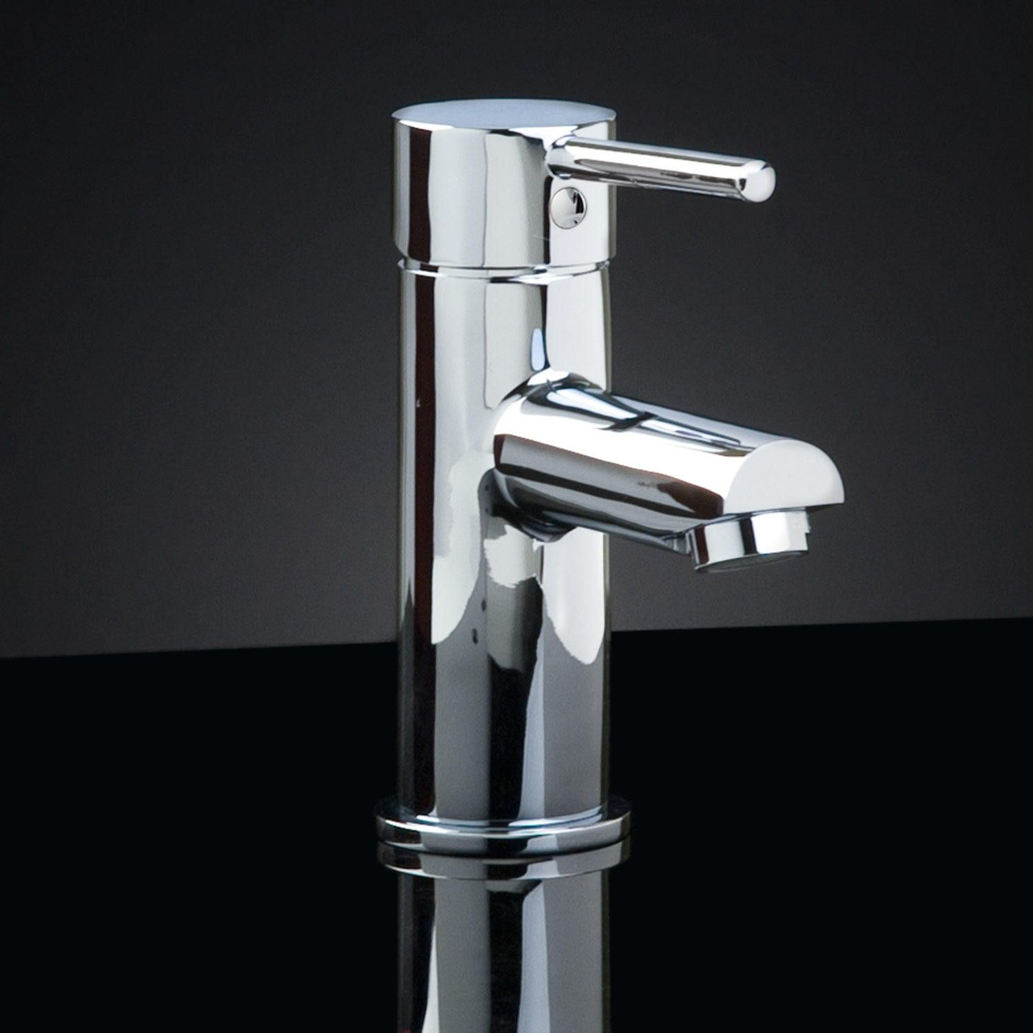 Rotunda Straight Spout Single-Hole Faucet with Pop-Up Drain | Faucet ...