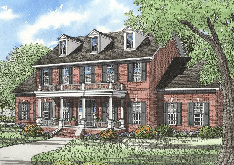 Dandridge Georgian Home Brick Exterior House Colonial House Exteriors Colonial House Plans